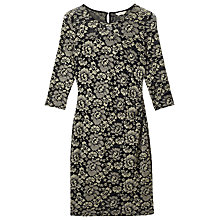 Buy Precis Petite Lace Dress, Black/Gold Online at johnlewis.com