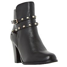 Buy Dune Padro Studded Block Heeled Ankle Boots, Black Online at johnlewis.com