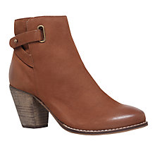 Buy Carvela Smart Block Heeled Ankle Boots, Tan Online at johnlewis.com