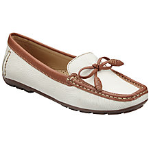 Buy John Lewis Greca Slip On Moccasins, Cream Online at johnlewis.com