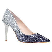 Buy Carvela Griddle Occasion Pointed Toe Stiletto Court Shoes, Silver Comb Online at johnlewis.com
