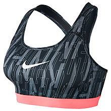 Buy Nike Pro Classic Skew Sports Bra, Black/Multi Online at johnlewis.com