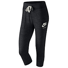 Buy Nike Sportswear Gym Vintage Capris, Black Online at johnlewis.com