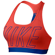 Buy Nike Pro Classic Logo Read Sports Bra Online at johnlewis.com