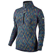 Buy Nike Pro Hyperwarm Half Zip Training Top, Blue/Multi Online at johnlewis.com