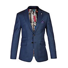 Buy Ted Baker Canbooj Sharkskin Tailored Suit Jacket, Blue Online at johnlewis.com