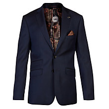 Buy Ted Baker Geniej Birdseye Wool Tailored Suit Jacket, Navy Online at johnlewis.com