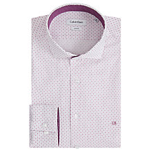 Buy Calvin Klein Norwich Cross Dot Print Slim Fit Shirt, White/Pink Online at johnlewis.com