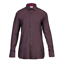 Buy Ted Baker Endurance Kian Pin Dot Cotton Shirt, Dark Red Online at johnlewis.com