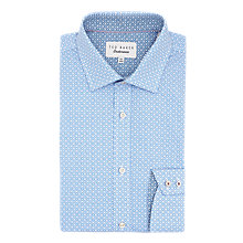 Buy Ted Baker Tucker Geo Print Tailored Fit Shirt, Blue Online at johnlewis.com