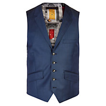 Buy Ted Baker Canboow Sharkskin Tailored Waistcoat, Blue Online at johnlewis.com
