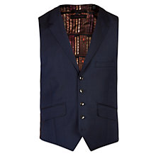 Buy Ted Baker Geniew Birdseye Wool Tailored Waistcoat, Navy Online at johnlewis.com