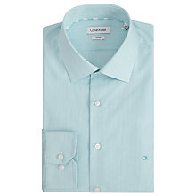 Buy Calvin Klein Cannes Fitted Easy Iron Shirt, Aqua/Teal Online at johnlewis.com