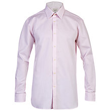 Buy Ted Baker Falcon Cotton Dobby Tailored Shirt, Pink Online at johnlewis.com
