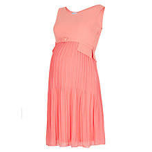 Buy Séraphine Sophia Luxe Maternity Dress, Coral Online at johnlewis.com