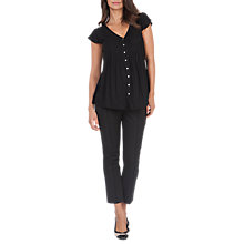 Buy Séraphine Claudia Maternity Nursing Blouse, Black Online at johnlewis.com