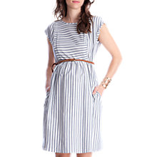 Buy Séraphine Presley Cotton Stripe Maternity Nursing Dress, Blue/White Online at johnlewis.com