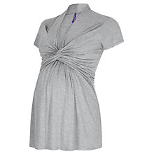 Buy Séraphine Mavis Twisted Knot Nursing Blouse, Grey Online at johnlewis.com