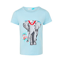 Buy John Lewis Girls' Elephant Graphic T-Shirt, Blue Online at johnlewis.com