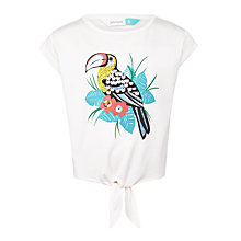 Buy John Lewis Girls' Toucan Print T-Shirt, Cream Online at johnlewis.com