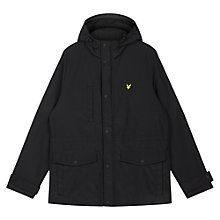 Buy Lyle & Scott Micro Fleece-Lined Hooded Coat, Black Online at johnlewis.com
