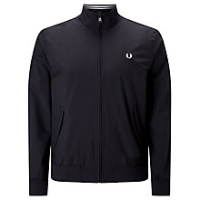 Buy Fred Perry Brentham Outerwear Jacket, Black Online at johnlewis.com