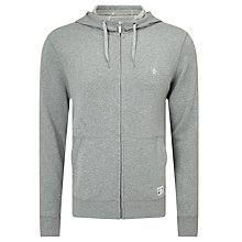 Buy Original Penguin Zip-Through Hoodie, Rain Heather Online at johnlewis.com