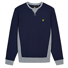 Buy Lyle & Scott Contrast Rib Crew Neck Sweatshirt, Navy Online at johnlewis.com