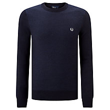 Buy Fred Perry Textured Stripe Crew Neck Jumper Online at johnlewis.com