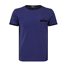 Buy Fred Perry Pique Ringer T-Shirt, French Navy Online at johnlewis.com