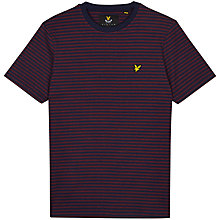 Buy Lyle & Scott Mouline Stripe T-Shrit, Navy/Red Online at johnlewis.com