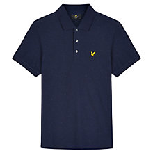 Buy Lyle & Scott Flecked Polo Shirt, Navy Online at johnlewis.com