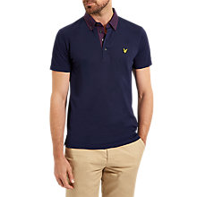 Buy Lyle & Scott Woven Cell Polo Shirt, Navy Online at johnlewis.com