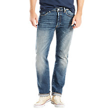 Buy Levi's 501 Original Straight Stretch Jeans, Fret Online at johnlewis.com