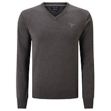 Buy Gant Lightweight Cotton V-Neck Jumper Online at johnlewis.com