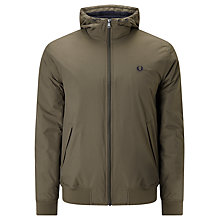 Buy Fred Perry Hooded Brentham Jacket, Wren Online at johnlewis.com