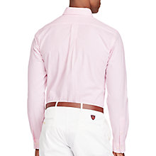 Buy Polo Golf by Ralph Lauren Stripe Performance Shirt, Pale Rose Online at johnlewis.com