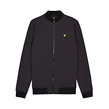 Buy Lyle & Scott Zip Soft Shell Jacket, Black Online at johnlewis.com