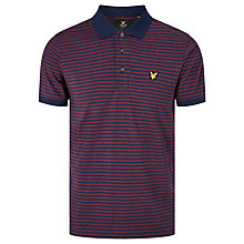 Buy Lyle & Scott Mouline Stripe Polo Shirt, Navy/Red Online at johnlewis.com