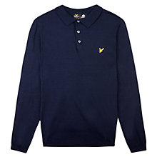 Buy Lyle & Scott Long Sleeve Polo Shirt, Navy Online at johnlewis.com