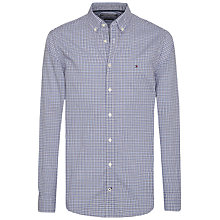 Buy Tommy Hilfiger Multi Mini Check Slim Fit Shirt, Medieval Blue/Multi Online at johnlewis.com