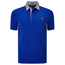 Buy Polo Golf by Ralph Lauren Vintage Lisle Pima Cotton Polo Shirt, Sapphire Star Online at johnlewis.com