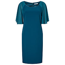 Buy Jacques Vert Cape Shoulder Dress, Mid Green Online at johnlewis.com