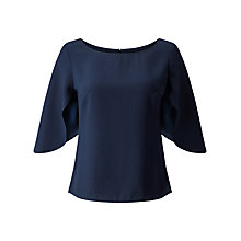 Buy Jacques Vert Petite Cape Blouse, Navy Online at johnlewis.com