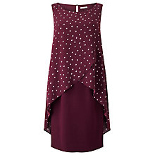 Buy Jacques Vert Woven Spot Dress, Red Online at johnlewis.com