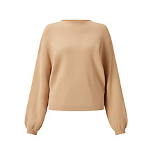Buy Miss Selfridge Balloon Sleeve Jumper, Tan Online at johnlewis.com