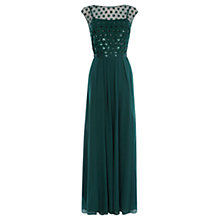 Buy Coast Lori Lee Cluster Maxi Dress, Forest Online at johnlewis.com