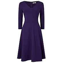 Buy Jacques Vert Ponte Skater Fit and Flare Dress, Dark Purple Online at johnlewis.com
