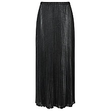 Buy Jacques Vert Foil Pleat Maxi Skirt, Metallic/Silver Online at johnlewis.com