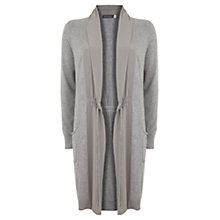 Buy Mint Velvet Silk Detail Cardigan, Grey Online at johnlewis.com